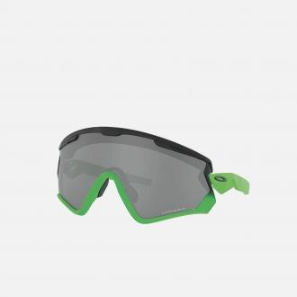 Oakley Wind Jacket Redux 2.0 Slam Jam 9418-5A Matte Black Fade Green