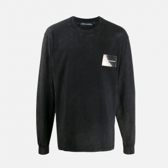 United Standard Card Holder Long Sleeve T-Shirt 20SUSLS04 Black