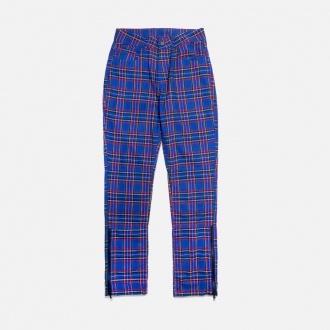 Pleasures Reset Plaid Pants P20SPCUT007-Blue