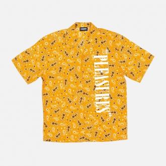 Pleasures Andy Rayon Vacation Shirt P20SPCUT0015-Yellow