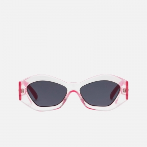 Le Specs The Ginchiest LSP1902075 Clear Hot Pink / Smoke Mono