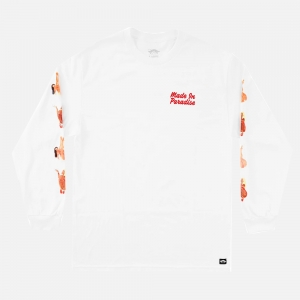Made In Paradise Show Girls Long Sleeve Tee MIP19MLSTEE009 White