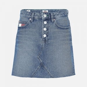 Tommy Jeans W Heritage Recycled Denim Mini Skirt DW0DW084151A5 Save Pf Mid Blue Rigid