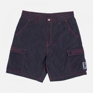 Pleasures Static Nylon Cargo Shorts P20SU010-Black