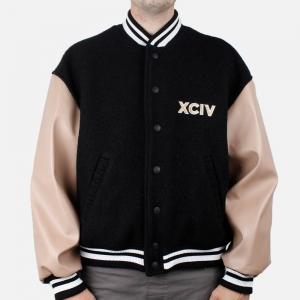 GCDS 60' College Jacket FW21M040070 Black