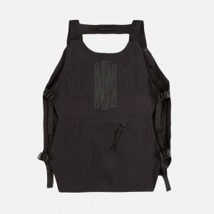 Maharishi Japanese Veg Dyed Tactical Cargo Vest 6390 Black