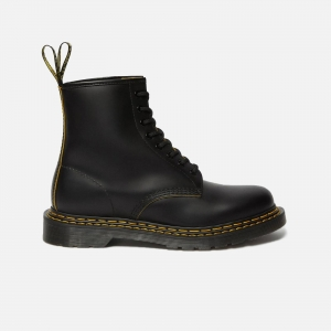 Dr. Martens W 1460 Double Stitch Leather Ankle Boots 26100032 Black/ Yellow Smooth Slice