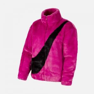 Nike Sportswear W Faux Fur Jacket CU6558-564 Cactus Flower/ Black