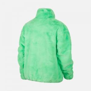 Nike Sportswear W Faux Fur Jacket CU6558-328 Poison Green/ Black
