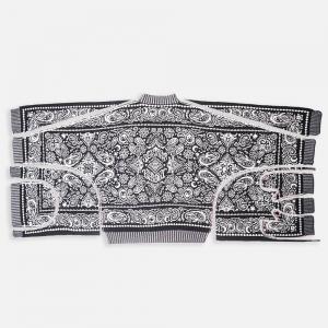 K21124-BW x Karont 4in1 Self-cut Paisley Knit