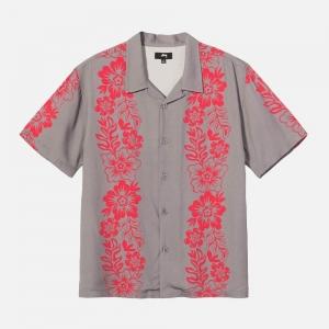 Hawaiian Pattern Shirt 1110157-GREY
