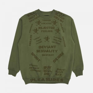 Crush Crewneck Sweatshirt P20W023-ARMY
