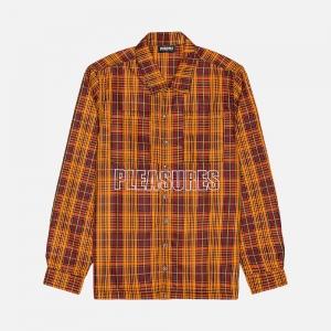 Shade Plaid Work Shirt P21SP003-ORANGE