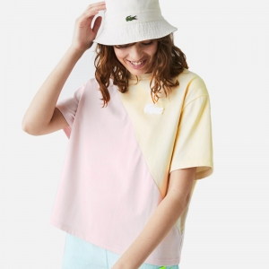 Loose Bicolour Cotton T-shirt TF0233-W31