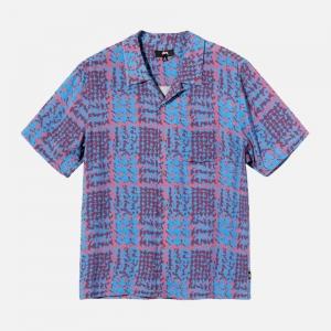 Hand Drawn Houndstooth Shirt 1110150-BERR