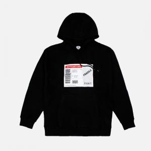 Shipping Label Hoodie 4ESLH2021-BLACK