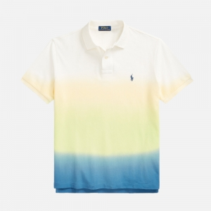 Custom Slim Fit Dip-Dyed Mesh Polo Shirt 710835738001