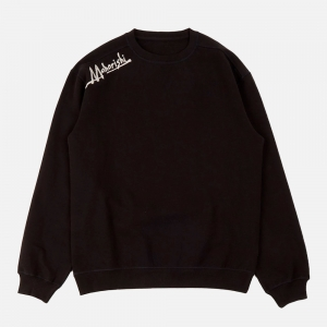 Heart Of Tigers Embroidered Crew 2062-Black