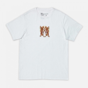 Heart Of Tigers Embroidered 2063-White