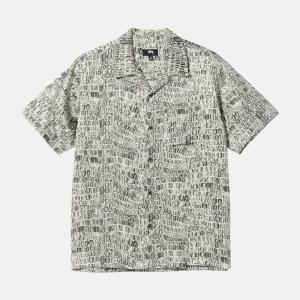 Croc Pattern Silk Shirt 1101175-TANN