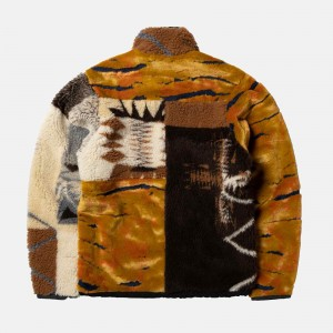 Aries Patchwork Reversible Zip Through Fleece FSAR70005-MLT