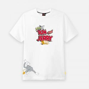 Tealer X Tom & Jerry Distored T-Shirt ART0013-WHT