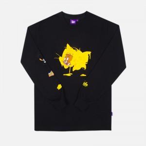 Tealer X Tom & Jerry Long Sleeve T-Shirt  ART0017-BLK