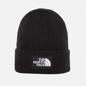 The North Face TNF Logo Box Cuffed Beanie NF0A3FJXJK3 TNF Black