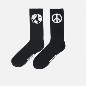 Butter Goods World Peace Socks BGFW21WPS-Blk