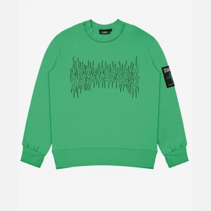 Wasted Paris Fire Cult Crew Neck FW21WPCNFC-IGRN