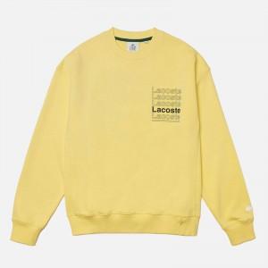Lacoste Live Crew Neck Print Fleece Sweatshirt SH7294-107