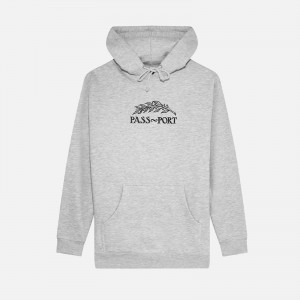Pass~Port Quill Embroidery Hoodie PPFW21QEH-GRY