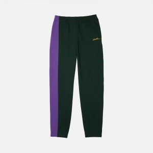 Lacoste L!ve Embroidered Two-Tone Fleece Trackpants XH7304-17Y