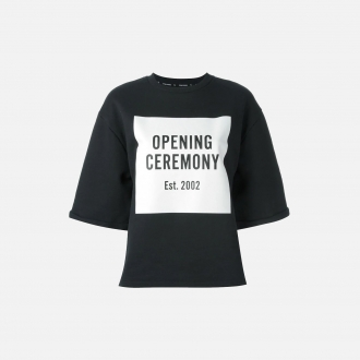 Opening Ceremony Oversized Cropped Logo Top PE000235200B